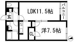 レオネクスト寺本[1階]の間取り