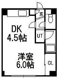 北海道札幌市中央区南四条西16の賃貸マンションの間取り
