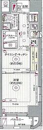 都営新宿線 浜町駅 徒歩6分の賃貸マンション 3階1DKの間取り