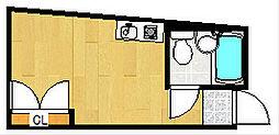 ハイツコスモ[4階]の間取り