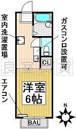 愛知県名古屋市千種区赤坂町3丁目の賃貸アパートの間取り