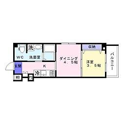 沢之町マンション[302号室]の間取り