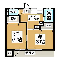 本吉荘[1階]の間取り