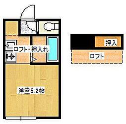 神奈川県藤沢市辻堂新町3丁目の賃貸アパートの間取り