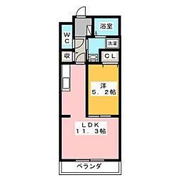 静岡県浜松市浜北区染地台3の賃貸マンションの間取り