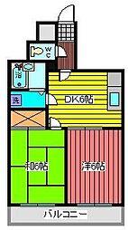 飯塚一丁目ハイツ[5階]の間取り