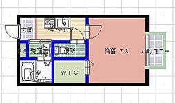 メゾンソレイユ[101号室]の間取り