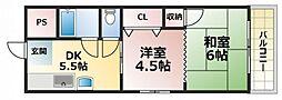 大同マンション[3階]の間取り