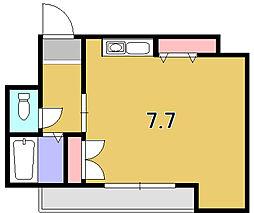 京都府京都市東山区本町8丁目の賃貸アパートの間取り