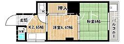 七二八マンション[3階]の間取り