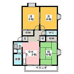 ドリームハウスA[1階]の間取り