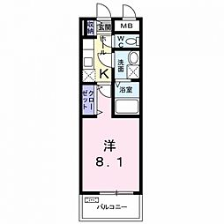 クラッシーネ[3階]の間取り