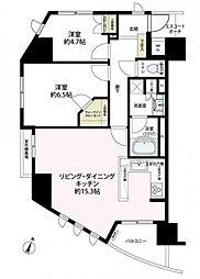 クオス横浜[8階]の間取り