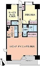 朝日上野マンション[12階号室]の間取り