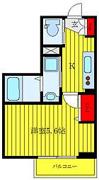 JR山手線 大塚駅 徒歩9分の賃貸マンション 1階1Kの間取り