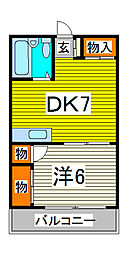 コートK-1[2階]の間取り