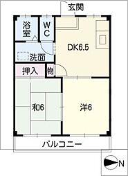 ユートピアSUZUKA[1階]の間取り