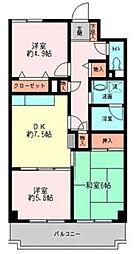 メゾンデフォンティーヌ[2階]の間取り