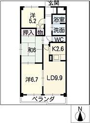 プライム入場I[3階]の間取り