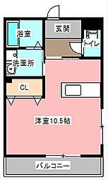 静岡県浜松市東区半田町の賃貸アパートの間取り