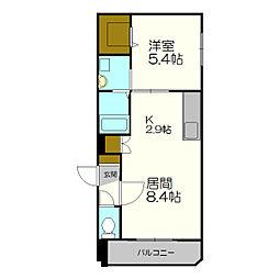 北海道札幌市白石区本郷通6丁目の賃貸マンションの間取り