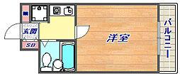 フルール岡本[305号室]の間取り