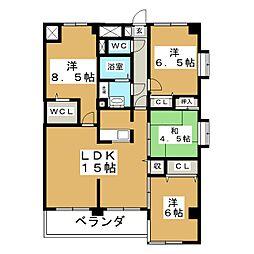 上杉五番館[5階]の間取り