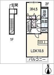 アジェラート15[2階]の間取り