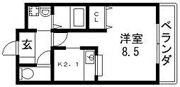 メルベーユ高井田[403号室号室]の間取り