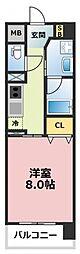 プリムール[5階]の間取り