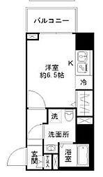 N-stage Toyoda 6階1Kの間取り