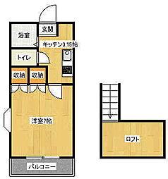 パートナーランド 1番館[1階]の間取り