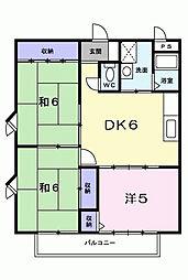 田野コーポ[2階]の間取り