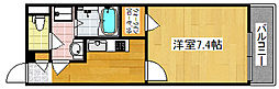 クレイノ粉浜[3階]の間取り