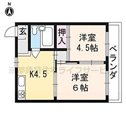 マンション花川[301号室]の間取り