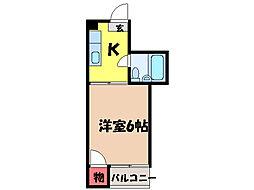 愛媛県松山市山越6丁目の賃貸マンションの間取り