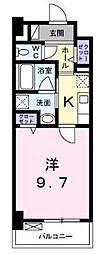 高松琴平電気鉄道琴平線 栗林公園駅 徒歩8分の賃貸マンション 7階1Kの間取り