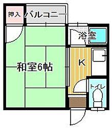 YMコーポ[102号室]の間取り