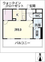 プランドールYokoi[1階]の間取り