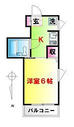 ルミネ東高円寺[302号室号室]の間取り