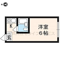 グローアップ京都[206号室]の間取り