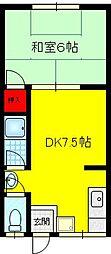 タイガースマンション[2階]の間取り