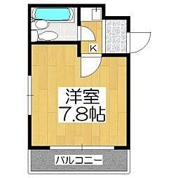 京都府京都市伏見区紙子屋町の賃貸マンションの間取り