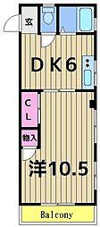 安藤コーポ[2階]の間取り