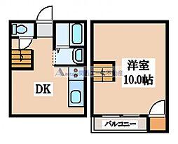 [テラスハウス] 大阪府大東市赤井3丁目 の賃貸【大阪府 / 大東市】の間取り
