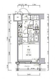 トラディス横川 5階1Kの間取り