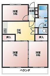 パークタウン鶴ヶ島[1階]の間取り