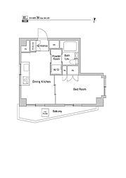 プライムアーバン三軒茶屋III[7階]の間取り