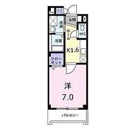 ZERO ワンステージ[4階]の間取り