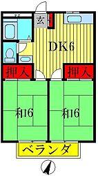 吉野ハイツ[1階]の間取り